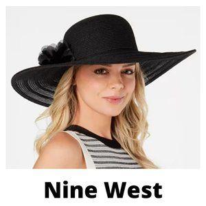 Nine West Packable Super Floppy Hat black- nwt